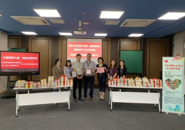 Celestica employees doing a book drive in Shanghai